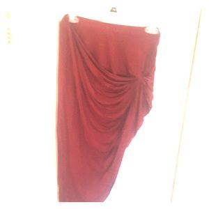 Red knot skirt